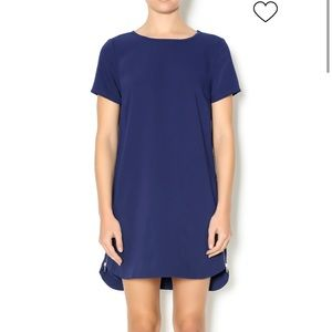 Lumbered Navy Shift Dress with Zippers on side